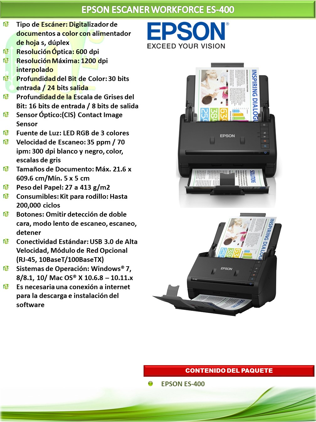 Workforce Es 400 Duplex Document Scanner Mtec
